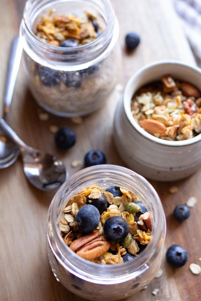 Granola topped oats