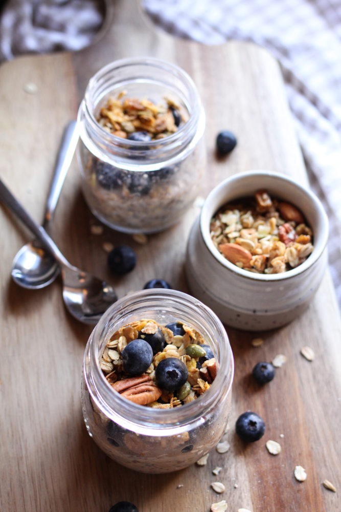 Easy to make Overnight oats with maple and cinnamon