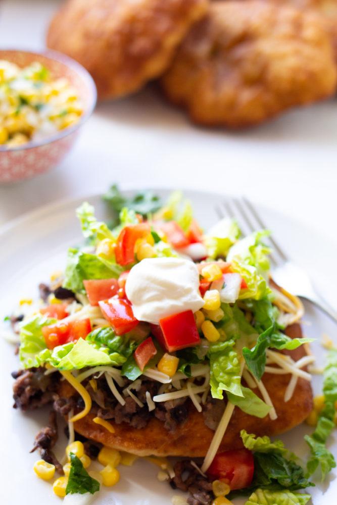 Plain Greek Yogurt on tacos