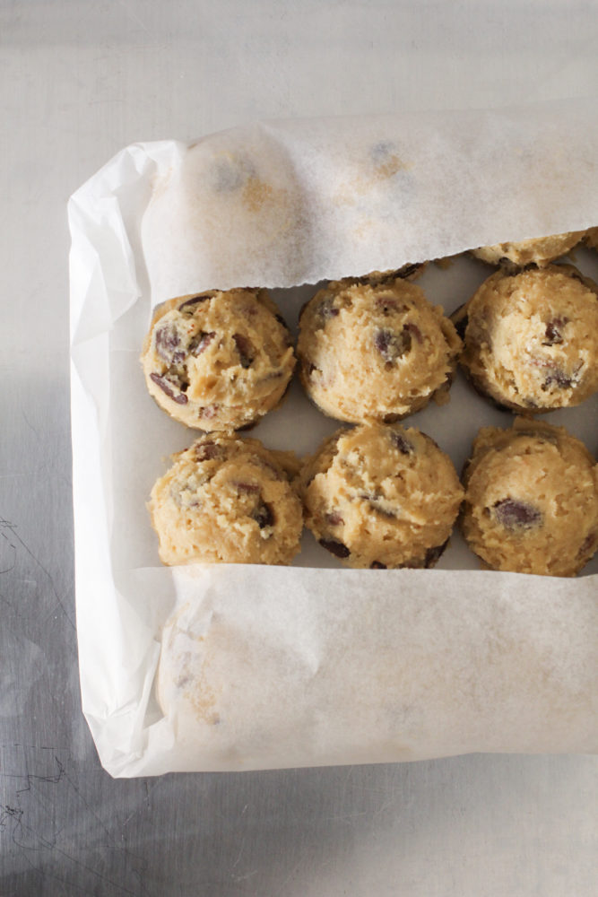 how to wrap cookie dough for freezing