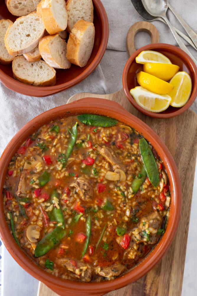 Easy Spanish Arroz Brut (Mallorcan Soup)