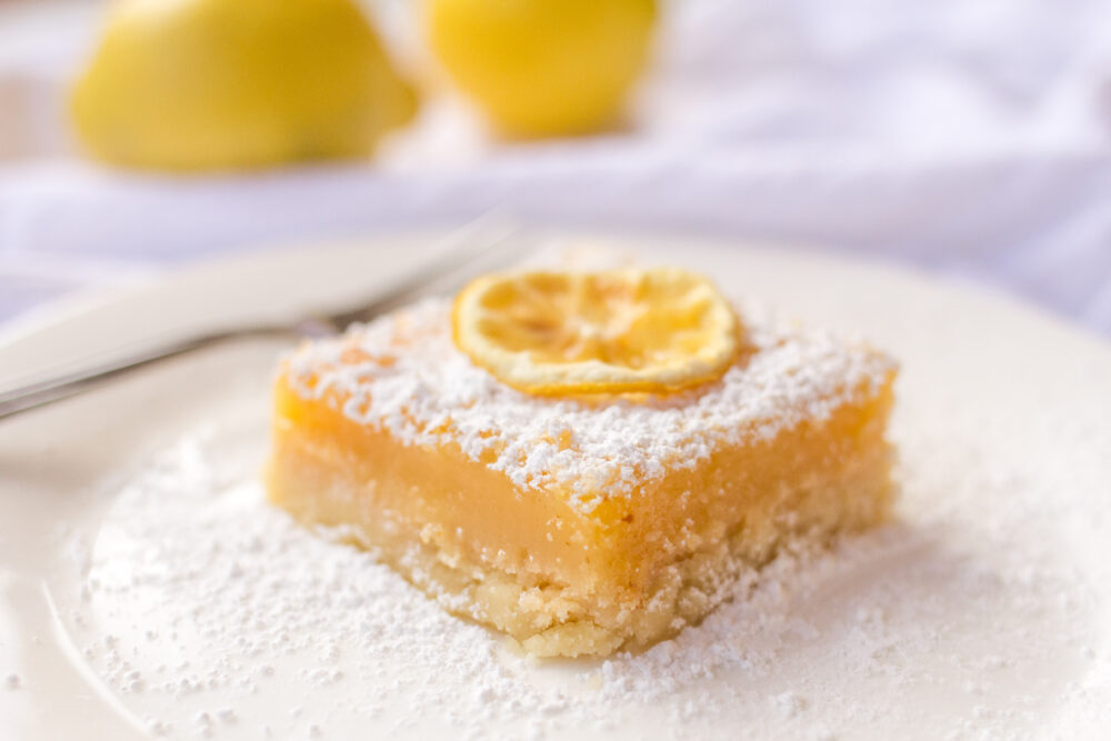 Easy Lemon Bars made with lemon zest