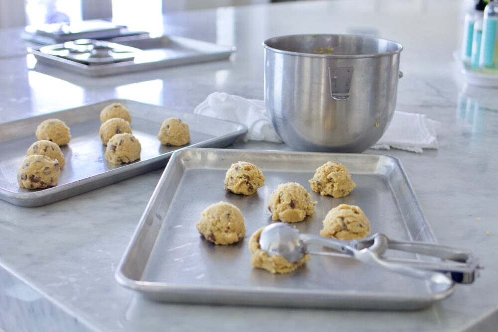 Make ahead cookie dough