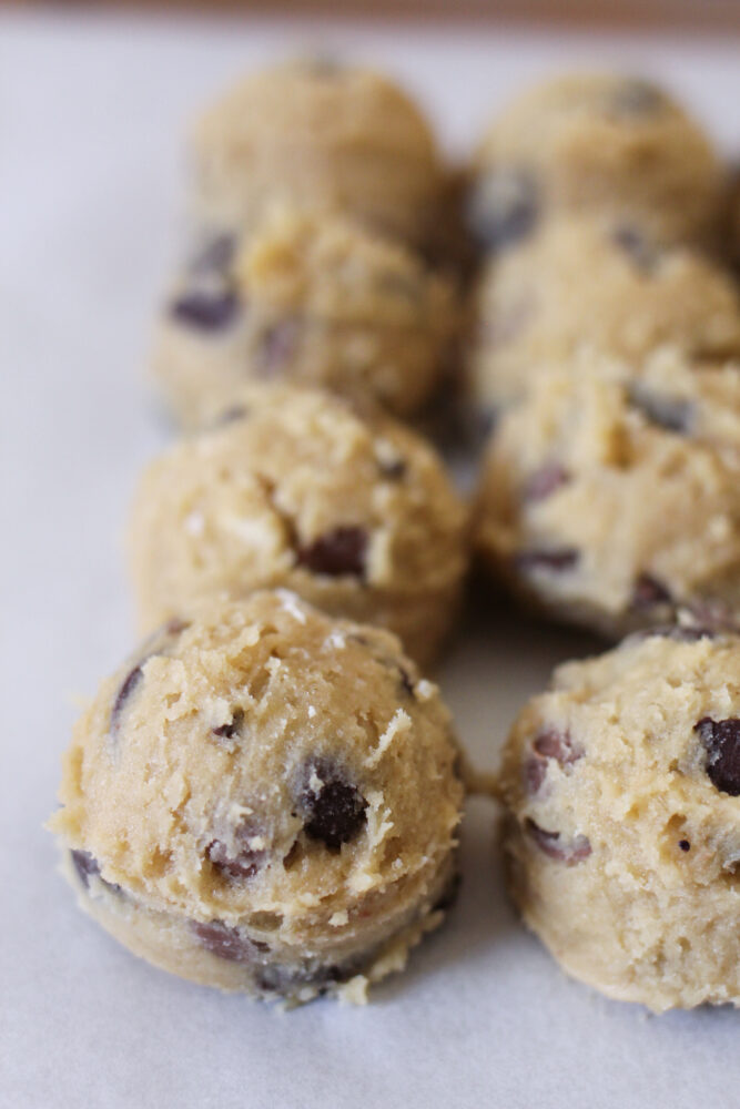 frozen cookie dough balls