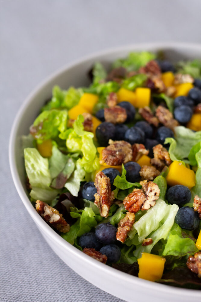Blueberry and Mango Salad with Balsamic Honey Dressing