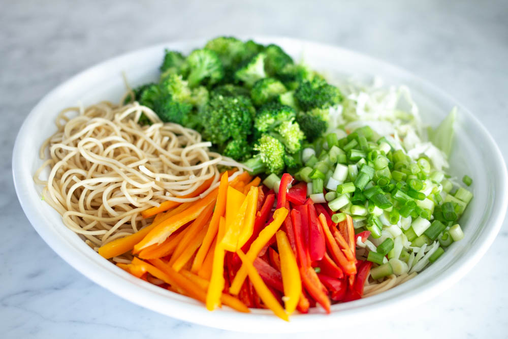 Vegetables in Asian salad