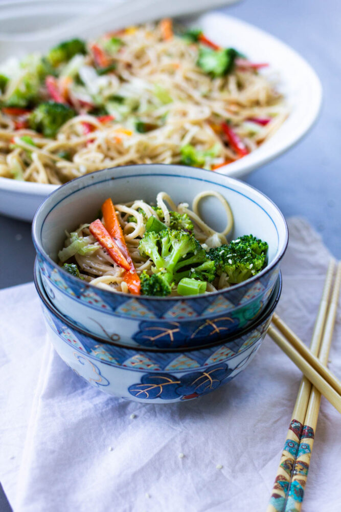 Ramen Salad with Asian Dressing