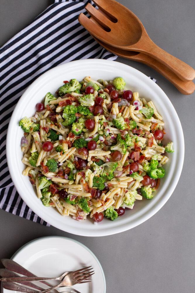 Broccoli, Grape and Pasta Salad