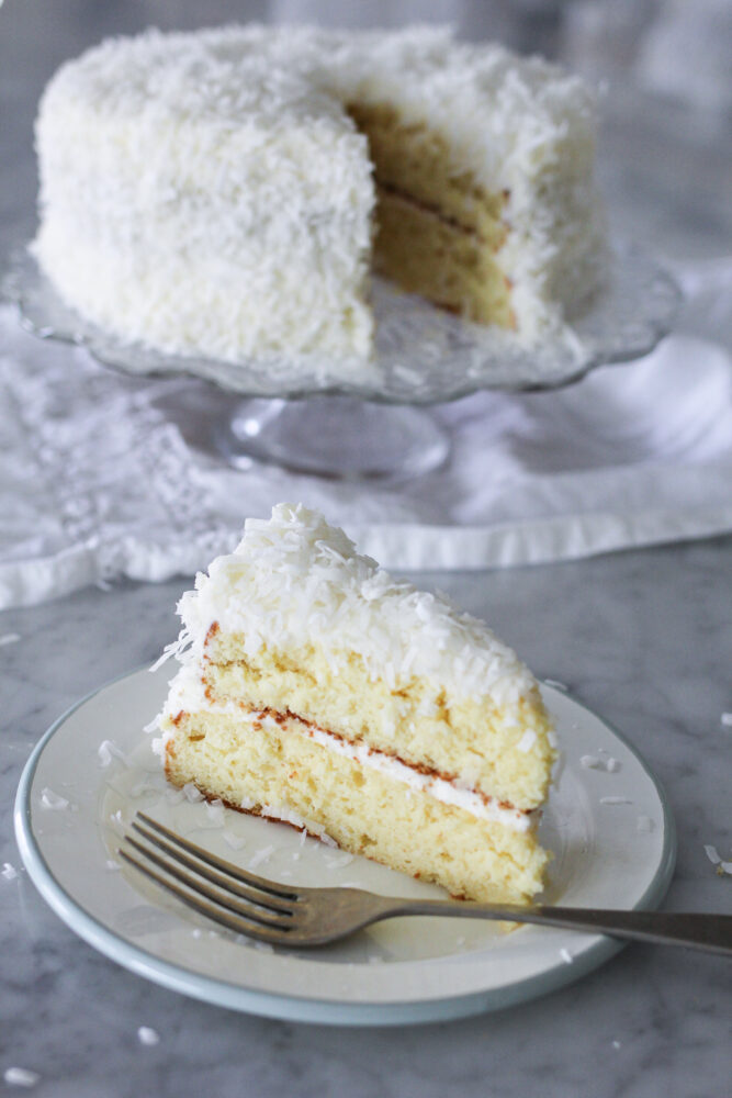 Moist and Easy Coconut Cake