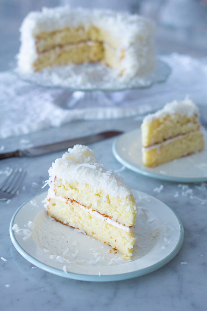 The Best Coconut Cake made with Box Mix