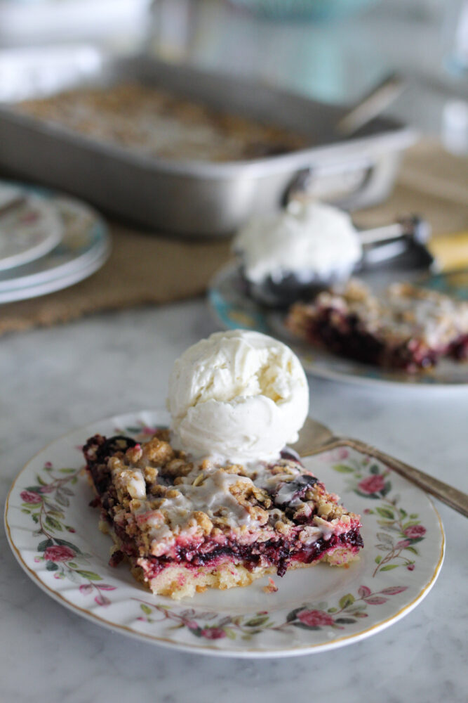Best Cherry Pie Bars with Crumble Topping and Lemon Glaze