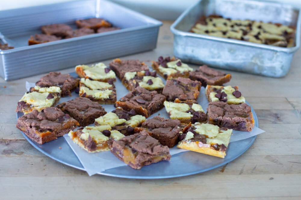 Party platter easy caramel brownies