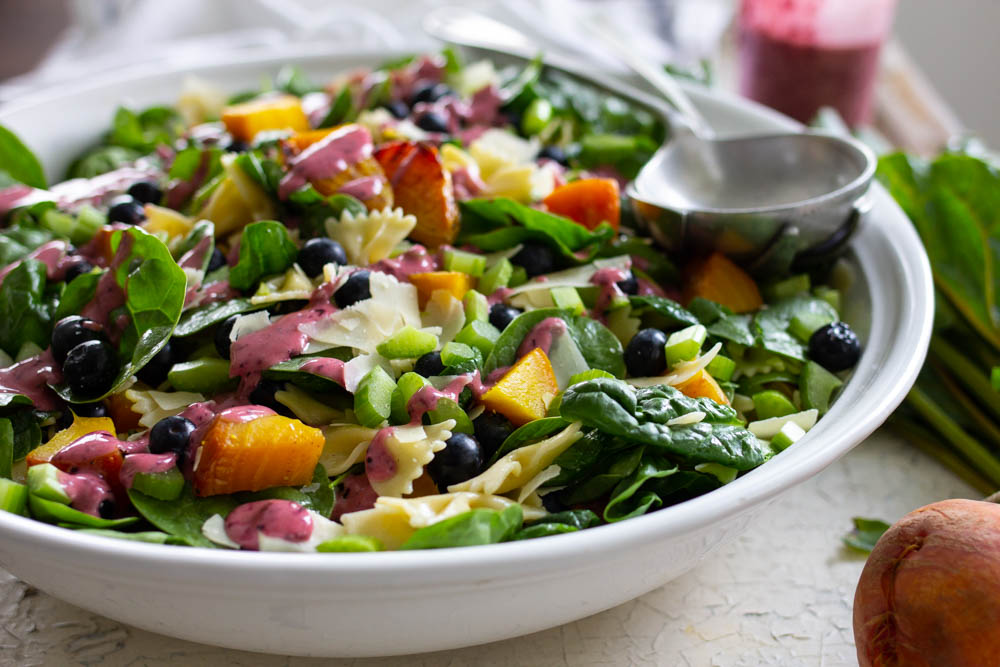 Best summer salad with beets and blueberries