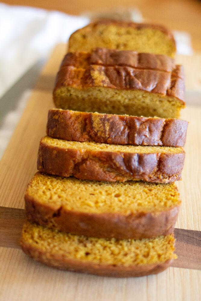 Pumpkin bread made with orange juice