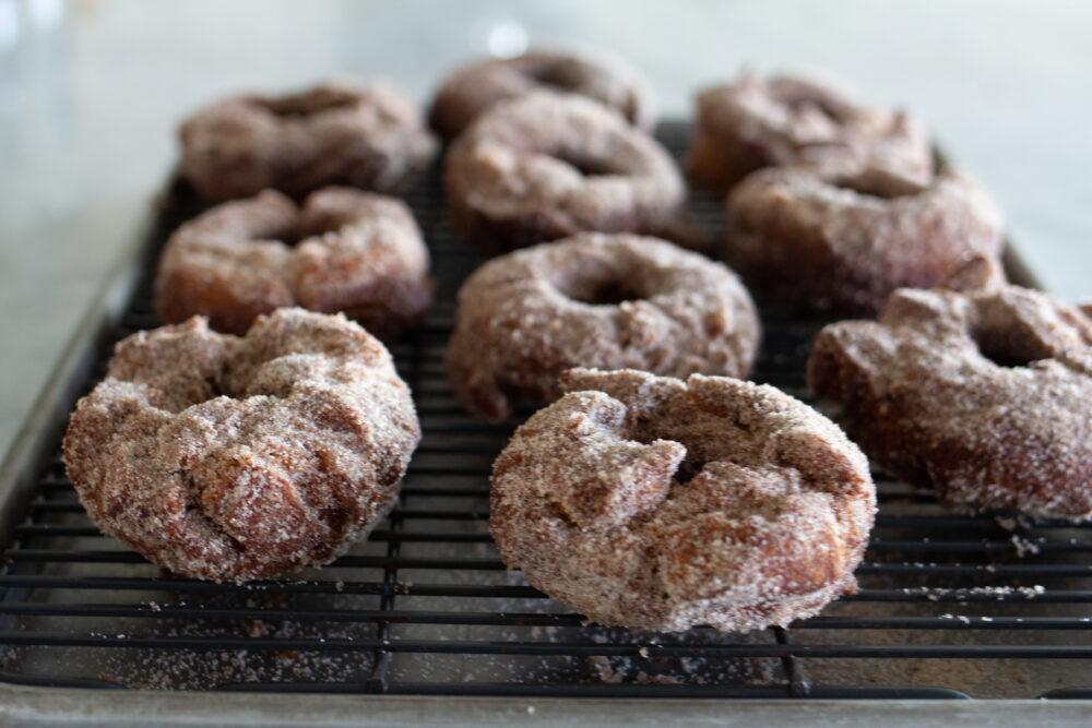 Hot Apple Cider Donuts