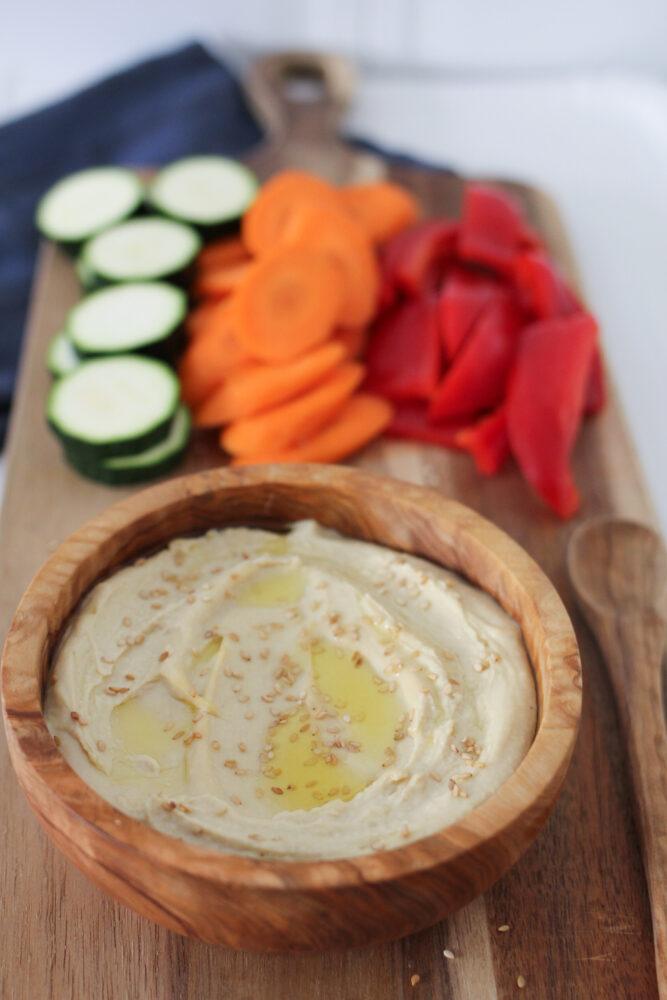 5 Minute Hummus made with tahini paste